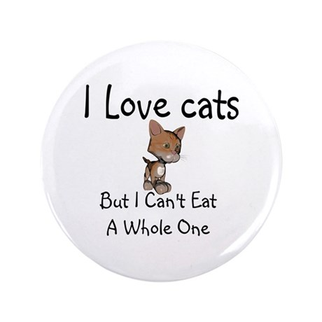"I Love Cats 3.5"" Button"
