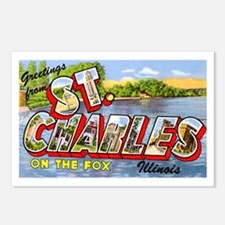 St. Charlies Illinois Greetings Postcards (Package