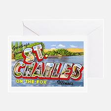 St. Charlies Illinois Greetings Greeting Card