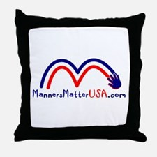 Funny Social manners Throw Pillow