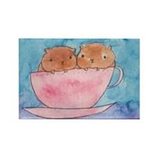 Teacup Cavys Rectangle Magnet