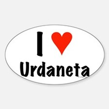 I love Urdaneta Oval Decal