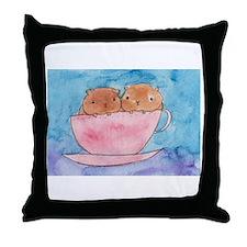 Teacup Cavys Throw Pillow