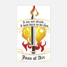 Joan of Arc - Born to Do This Rectangle Decal