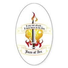 Joan of Arc - Born to Do This Oval Decal