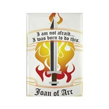 Joan of Arc - Born to Do This Rectangle Magnet