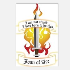 Joan of Arc - Born to Do This Postcards (Package o