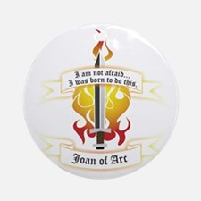 Joan of Arc - Born to Do This Ornament (Round)