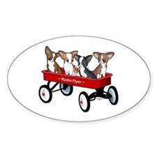 Radio Flyer Chihuahuas Oval Decal