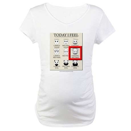 Today I Feel - Chaotic Neutral Maternity T-Shirt