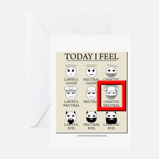 Today I Feel - Chaotic Neutral Greeting Card