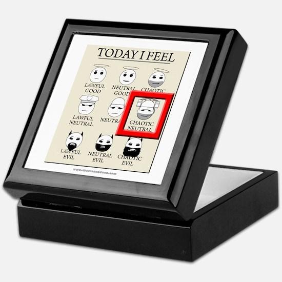 Today I Feel - Chaotic Neutral Keepsake Box