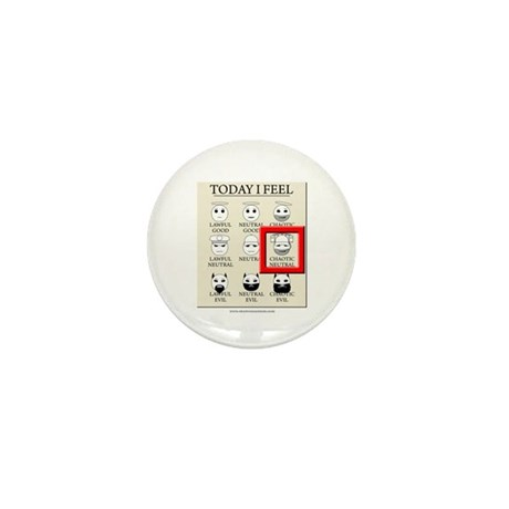 Today I Feel - Chaotic Neutral Mini Button (10 pac