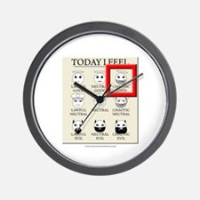 Today I Feel - Chaotic Good Wall Clock