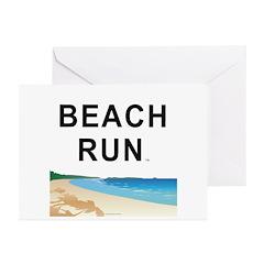 Beach Run Greeting Cards (Pk of 10)