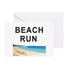 Beach Run Greeting Card