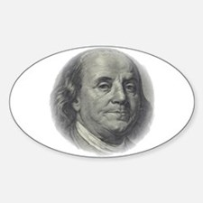 Ben Franklin Face Oval Decal