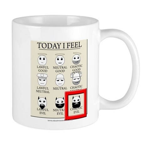 Today I Feel - Chaotic Evil Mug