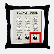 Today I Feel - Chaotic Evil Throw Pillow