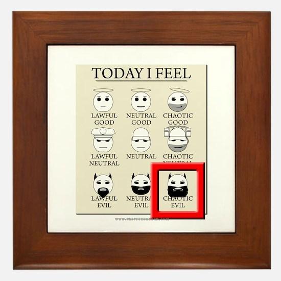 Today I Feel - Chaotic Evil Framed Tile