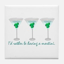 Martini Humor Tile Coaster