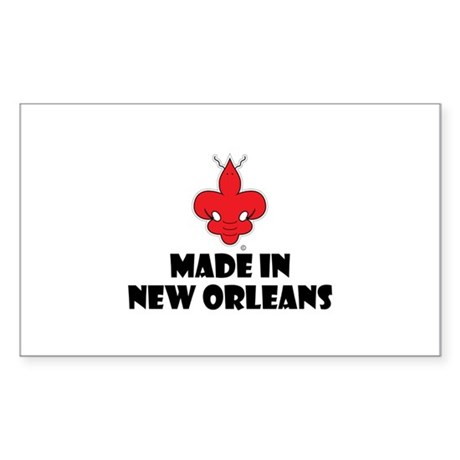 Made in New Orleans Rectangle Sticker