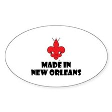 Made in New Orleans Oval Decal