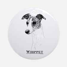 Brindle Whippet Dog Breed Ornament (Round)