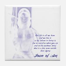 Joan of Arc - One Life Tile Coaster