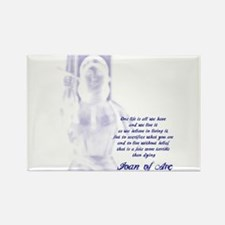 Joan of Arc - One Life Rectangle Magnet