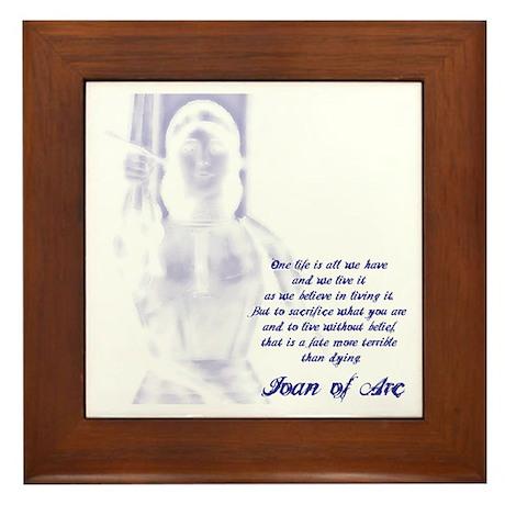 Joan of Arc - One Life Framed Tile