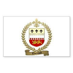 THERIAULT Family Crest Rectangle Decal