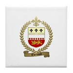 THERIAULT Family Crest Tile Coaster
