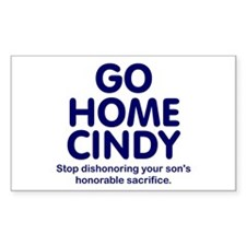 Go Home Cindy Rectangle Decal