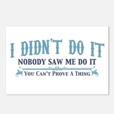 I Didn't Do It Postcards (Package of 8)