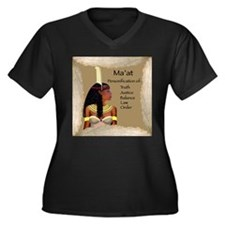 Ma'at Plus V-Neck Tee (Dark)