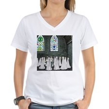 Pagan Church V-Neck (Fitted, White)