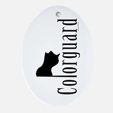 Colorguard Oval Ornament