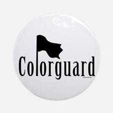 Colorguard Ornament (Round)