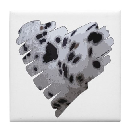 Leopard Appaloosa Heart Tile Coaster