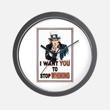 STOP WHINING Wall Clock