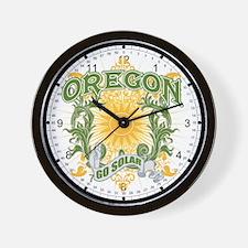 Go Solar Oregon Wall Clock