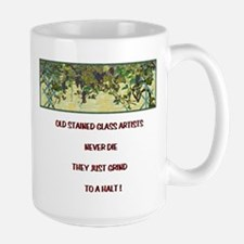 Stained Glass Artist-GrapeArb Large Mug