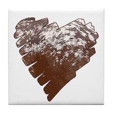 Appaloosa Horse Heart Tile Coaster
