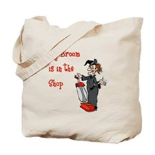 Vacuum Riding Witch Tote Bag
