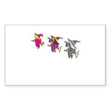3 witches Rectangle Decal