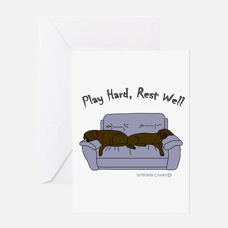 lab gifts - choco/choco Greeting Card