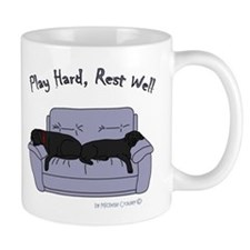lab gifts - black/black Mug