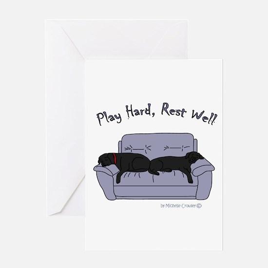lab gifts - black/black Greeting Card