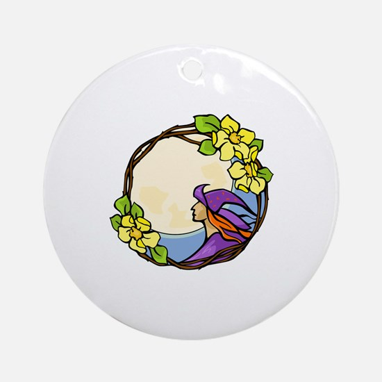 Simple Fullmoon Ornament (Round)
